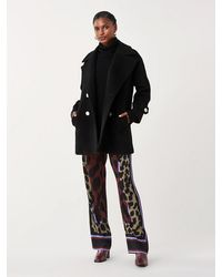 Diane von Furstenberg Olivera Double-face Wool Coat - Black