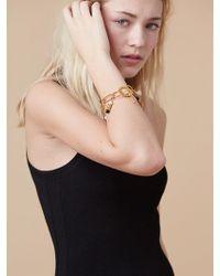 Diane von Furstenberg - Hammered Gold And Stone Bracelet - Lyst
