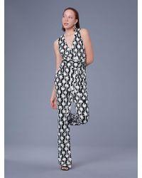 Diane von Furstenberg - The Dvf Terria Silk Jersey Jumpsuit - Lyst