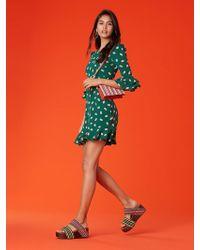 Diane von Furstenberg - Long Sleeve Ruffle Cuff Dress - Lyst