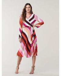 Diane von Furstenberg - Tilly Silk Crepe De Chine Wrap Dress - Lyst