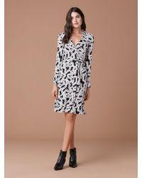 8934b7d7ec8 Diane von Furstenberg - New Jeanne Two Silk Jersey Wrap Dress - Lyst
