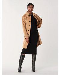 Diane von Furstenberg Lia Wool Belted Coat - Natural