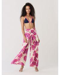 Diane von Furstenberg Moss Triangle Bikini Top - Pink