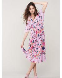 Diane von Furstenberg Nala Flare Midi Dress - Multicolour