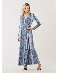 Diane von Furstenberg - New Julian Silk-jersey Maxi Wrap Dress - Lyst