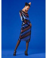 Diane von Furstenberg - One-shoulder Bias Sequin Dress - Lyst