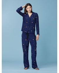 Diane von Furstenberg - Long Sleeve Zodiac Pajama Top - Lyst