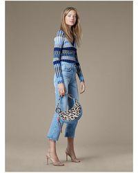 Diane von Furstenberg Levi's 517 Cropped Bootcut Jeans - Blue