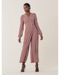 Diane von Furstenberg Ashlyn Silk Crepe De Chine Jumpsuit - Multicolour