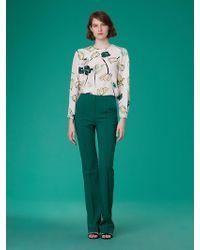 Diane von Furstenberg - Pleat Front Trousers - Lyst