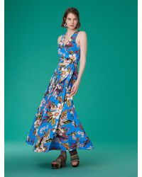 Diane von Furstenberg - Gathered Maxi Skirt - Lyst