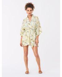 Diane von Furstenberg Gina Cotton Kimono - Multicolor