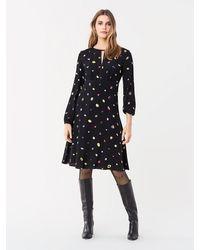 Diane von Furstenberg Andrea Crepe Long-sleeve Dress - Black
