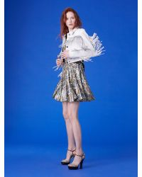 Diane von Furstenberg - Long-sleeve Fitted Fringe Jacket - Lyst