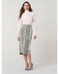 e9a08e971 Diane von Furstenberg - Kara Printed Pencil Skirt - Lyst