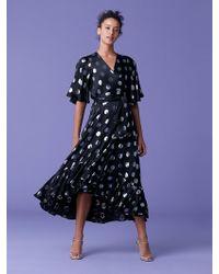 Diane von Furstenberg - Sareth Dot Wrap Dress - Lyst