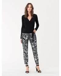 Diane von Furstenberg Luca Stretch-twill Cropped Skinny Pants - Black