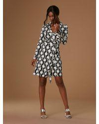 bf834db6a6a2d Diane von Furstenberg - The Dvf New Jeanne Two Silk Jersey Wrap Dress - Lyst