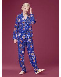Diane von Furstenberg - Wide Leg Pyjama Pant - Lyst