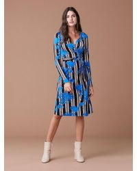 Diane von Furstenberg - Long Sleeve Julian Wrap Dress - Lyst