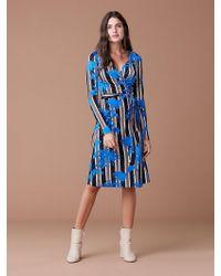 25f7a9aa145e8 Diane von Furstenberg New Julian Short-sleeve Wrap Dress in Blue - Lyst