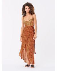 Diane von Furstenberg Amanda Rayon Beach Wrap Skirt - Orange