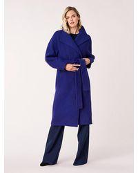 Diane von Furstenberg Jasper Wool Belted Coat - Purple