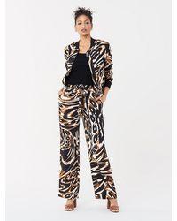 Diane von Furstenberg Denise Silk Crepe De Chine Pants - Black