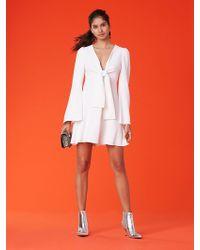 Diane von Furstenberg - Tie Front Mini Dress - Lyst