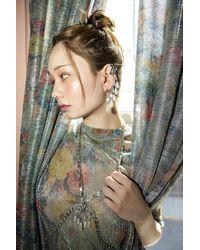 DYLANLEX Mia Vesper Monet Plissé T Shirt - Multicolour