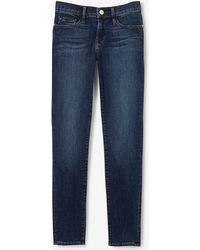 Frame Denim Le Skinny De Jeanne Crop Jean blue - Lyst