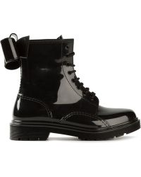 RED Valentino Back Bow Detail Military Boots - Lyst
