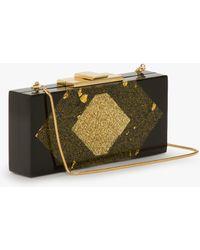 Halston Rectangular Lucite Box Minaudière - Lyst