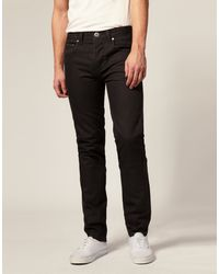 Asos Twisted Slim Fit Jeans - Lyst