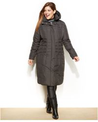Calvin Klein Plus Size Hooded Down Puffer Coat - Lyst