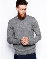 Asos Crew Neck Sweater In Cotton - Lyst