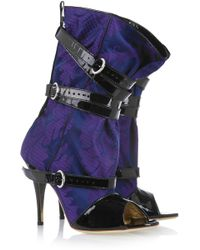 Vivienne Westwood - Jacquard And Patent-leather Boots - Lyst