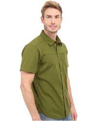Black Diamond Short Sleeve Stretch Operator Shirt - Green