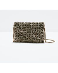 Zara Crystal Jewel Handbag - Lyst