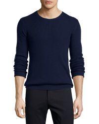 ATM   Waffle-stitch Knit Crewneck Sweater   Lyst