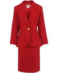 Yves Saint Laurent Rive Gauche Red Womens Suit - Lyst