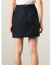 Burberry Brit - Inverted Pleat A-Line Skirt - Lyst