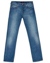 Paul Smith Standard-Fit Light-Wash Stretch-Denim Jeans - Lyst