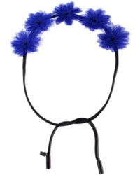 Gigi Burris Blue Floral Crown - Lyst
