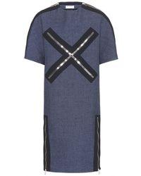 Balenciaga Zipped Wool-blend Dress - Lyst
