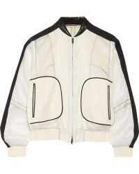 Reed Krakoff Contrast-Trimmed Silk-Chiffon Bomber Jacket - Lyst