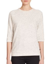 True Religion Joan Smalls X Speckled Stretch-Cotton Sweatshirt beige - Lyst