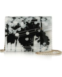 Jimmy Choo Candy Printed Acrylic And Leather Clutch - Lyst