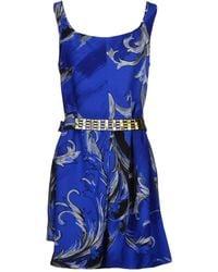 Versace Short Dress blue - Lyst